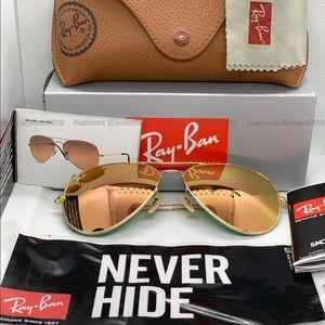 🌸[Copper Flash] RAYBAN Original Aviator NEW Pilot